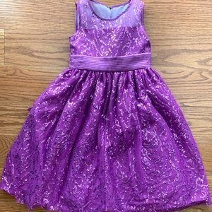 Cinderella Purple Sequined Special Occasion Dress